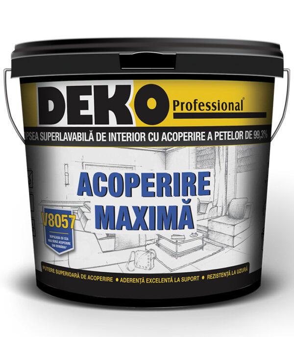 vopsea superlavabila de interior cu acoperire a petelor de 99,3% Deko V8057 acoperire maxima - vopseaua cu cea mai buna acoperire din Romania