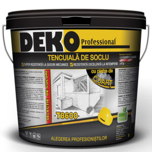 DEKO T8600 tencuiala de soclu cu pietre de cuart
