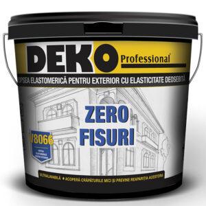 DEKO V8066 Vopsea elastomerica lavabilă de exterior cu elasticitate deosebită, chiar și la temperaturi scăzute, împotriva umezelii construcțiilor din beton.