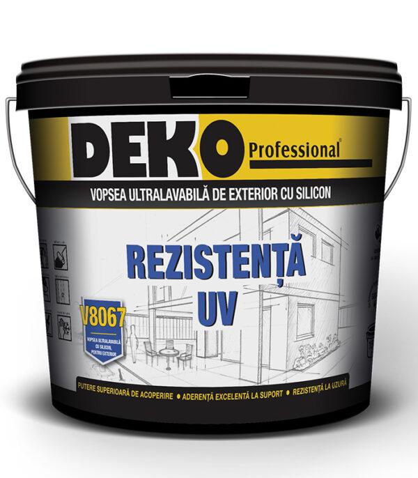 DEKO V8067 vopsea ultralavabila cu silicon de exterior este destinata protectiei si decorarii suprafetelor exterioare din beton, zidarie si tencuiala.