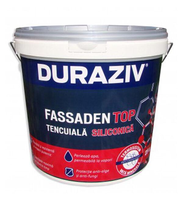 DURAZIV FASSADEN TOP - tencuiala siliconica este o tencuiala ideala pentru finisarea decorativă și de protecție a suprafețelor minerale exterioare.