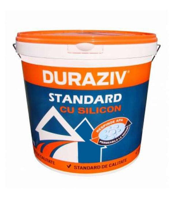DURAZIV Standard cu Silicon este o tencuiala decorativa ideala pentru protecţia faţadelor, în condiţii optime de preţ-calitate şi rezistenţă la umiditate.