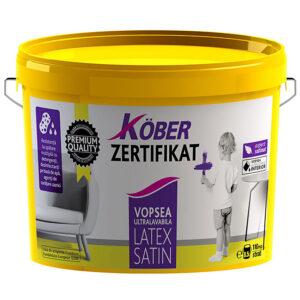 Kober Zertifikat Plus Latex satin este o vopsea lavabila de inalta calitate cu aspect semilucios, textura matasoasa si ultrarezistenta la spalare.