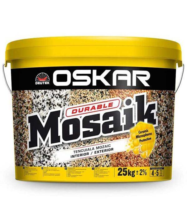 Tencuiala de soclu Oskar Mosaik este o tencuiala decorativa, dura cu aspect de piatra colorata, ce se utilizeaza pentru finisaje interioare si exterioare.