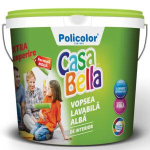 CASABELLA vopsea lavabila alba pentru interior este o lavabila pe baza de dispersii apoase, pigmenti, materiale de umplutura si aditivi specifici.