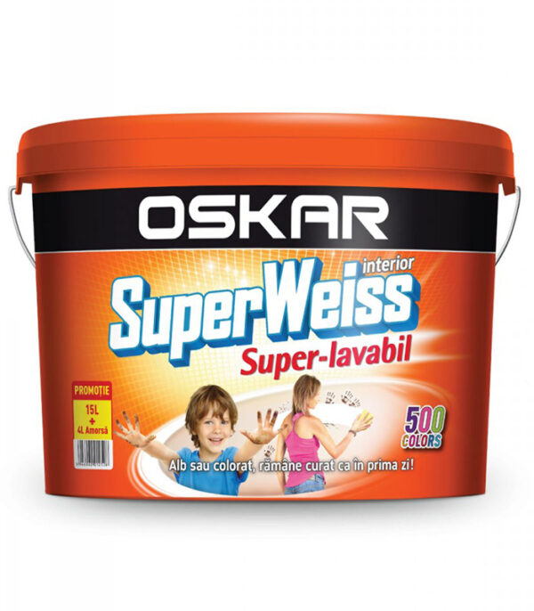 vopsea super lababila Oskar SuperWeiss de interior