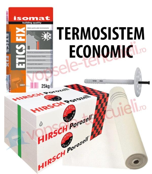 TERMOSISTEM ECONOMIC - termoizolatie fara finisaj