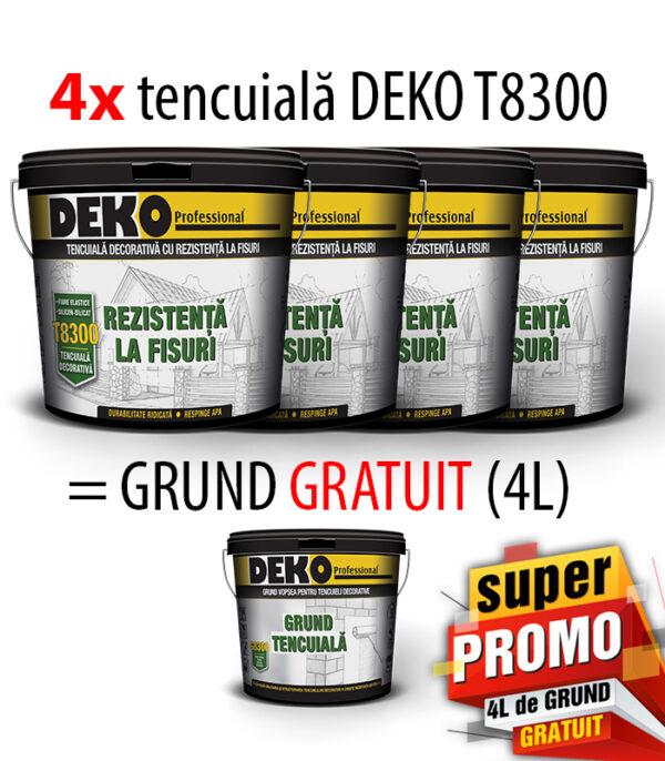 PROMO 4xDEKO T8300 tencuiala=4L Grund GRATIS