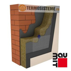 Termosistem vata minerala bazaltica BAUMIT 10cmeste un sitem de izolatie pentru fatada casei. Confera rezistență si durabilitate ridicată.